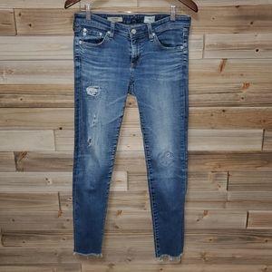 AG | The Legging Distressed Super Skinny Jeans 27